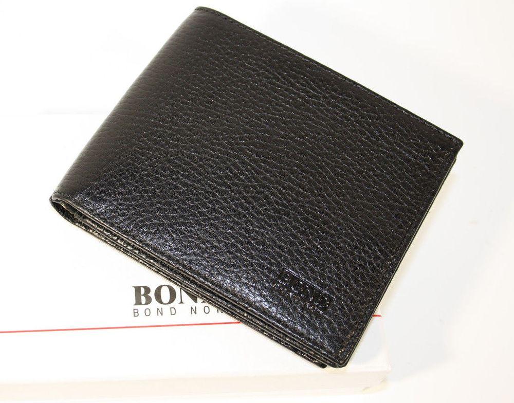 BOND NON / Кошелек мужской кожаный черный Bond Non 541-281