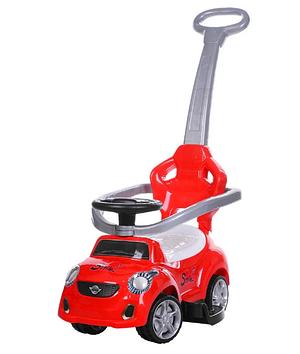 Машина каталка-толокар з ручкою,муз.,червона №FD-6812-3(1)