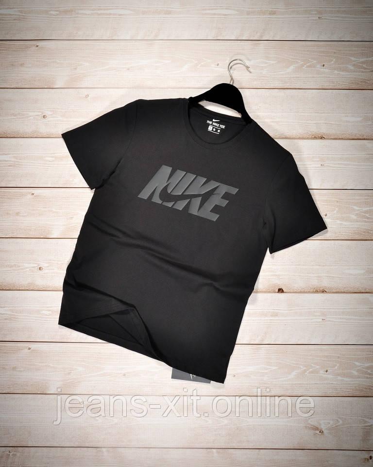Футболка Чол. 2XL(р) чорний 1003-21 Nike Туреччина Літо-D