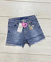 Джинсовые шорты для девочек. 140- 152 рост.