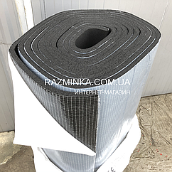 Вспененный каучук 9мм на клеевой основе, рулон 20м² (шумо звуко изоляция)