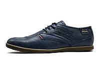 Мужские спортивные туфли Levi's, кожа, темно-синие, фото 1