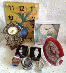 Часы настенные, настольные, наручные, часы-статуэтки, сувениры. Будильники