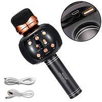 Микрофон караоке беспроводной с колонкой Bluetooth USB FM WS-2911, ТЕМБР