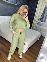 Женский трендовый спортивный костюм/комплект Зеленый, фото 1