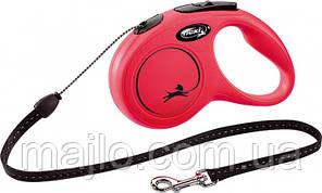 Рулетка Flexi New Classic для собак 5 м. трос S, до 12 кг красная