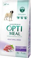 Сухой полнорационный корм Optimeal для собак малых пород со вкусом утки 1.5 кг (4820215362368)