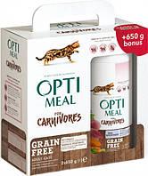 Упаковка сухого беззернового корм для дорослих кішок Optimeal з качкою і овочами 650 м 2 шт (4820215360920)