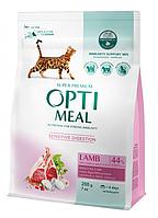 Сухий корм для дорослих кішок Optimeal зі смаком ягняти 200 г (4820215362405)