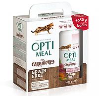 Упаковка сухого беззернового корм для дорослих кішок Optimeal з індичкою та овочами 650 м 2 шт