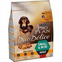 Сухой корм Purina Pro Plan Duo Delice Для взрослых собак мелких и карликовых пород с говядиной 2.5 кг