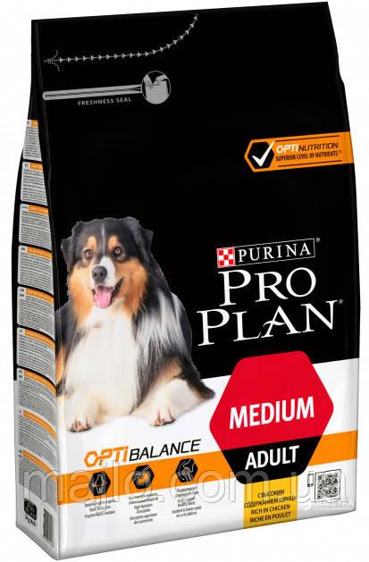 Сухий корм Purina Pro Plan Dog Medium Adult з куркою 3 кг (7613035114807)