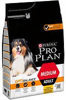 Сухой корм Purina Pro Plan Dog Medium Adult с курицей 3 кг (7613035114807), фото 1