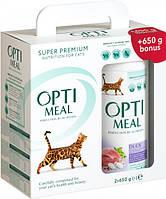Упаковка сухого корму для дорослих кішок Optimeal зі смаком качки 650 м 2 шт (4820215360968/4820215360951)