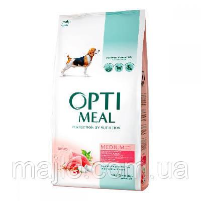 Сухой полнорационный корм Optimeal для собак средних пород со вкусом индейки 1.5 кг (4820083905407)