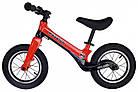 Беговел (велобіг від) дитячий Maraton Splash з надувними колесами Червоний, фото 2