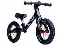 Беговел (велобіг від) дитячий Maraton Royal Black з надувними колесами і ручним гальмом, Чорний