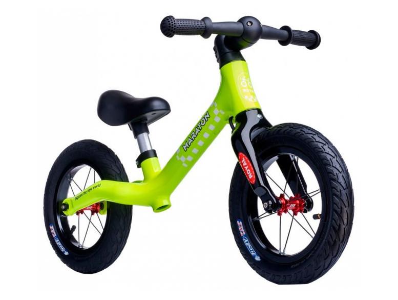 Беговел (Велобег) детский Maraton Royal Lime с надувными колесами и ручным тормозом, Лимонный