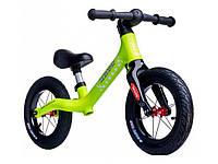 Беговел (велобіг від) дитячий Maraton Royal Lime з надувними колесами і ручним гальмом, Лимонний