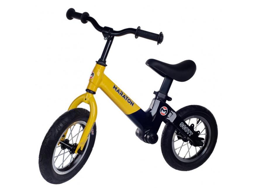 Беговел (велобіг від) дитячий Maraton Scott з надувними колесами, Жовтий