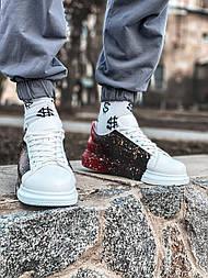 😜Кроссовки - Мужские кроссовки белые с черным / чоловічі кросівки білі з чорним