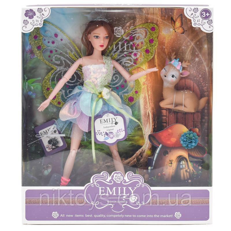Лялька QJ093A (24шт) шарнірна, фея, 28см, оленя