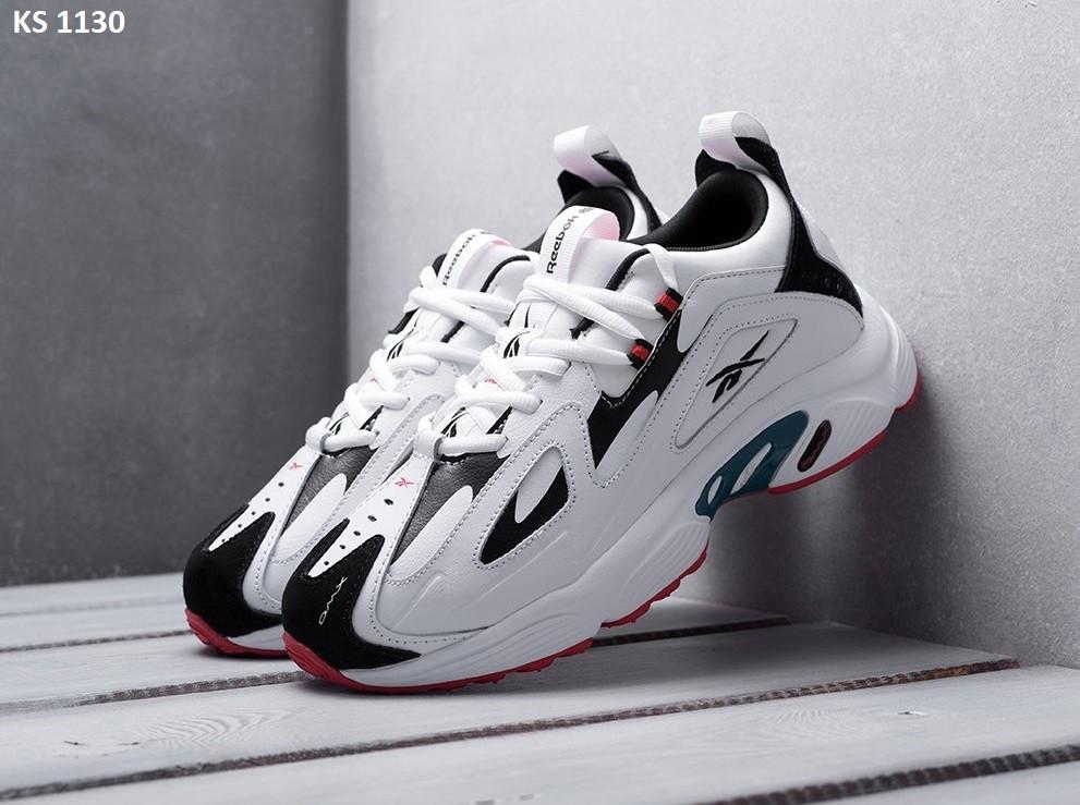 Мужские кроссовки Reebok DMX белые  / мужские кроссовки Рибок (Топ реплика ААА+)
