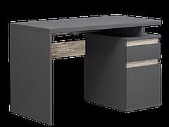 Комп'ютерний стіл Інтарсіо Kubik 1200х776 мм Антрацит + дуб клондайк (KUBIK)