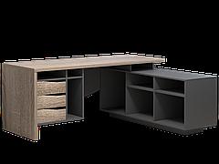 Комп'ютерний стіл Інтарсіо Connect 1 1900х786х1638 мм Дуб сонома трюфель + антрацит (CONNECT1)