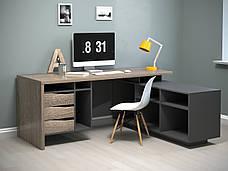 Комп'ютерний стіл Інтарсіо Connect 1 1900х786х1638 мм Дуб сонома трюфель + антрацит (CONNECT1), фото 2