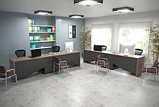 Комп'ютерний стіл Інтарсіо Connect 1 1900х786х1638 мм Дуб сонома трюфель + антрацит (CONNECT1), фото 3