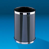 Корзина для бумаги круглая 10л черная AL60002N