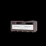 Тумба TV Інтарсіо Virgo R 1400х530 мм Дуб ансберг темний + Ультра білий металік (VIRGO_R)