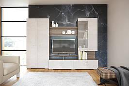 Стінка Intarsio Test комплект 280х200 см Дуб сонома трюфель + Беж бетон (TEST)