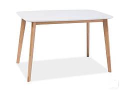 Стіл обідній Intarsio Exen 120х80 см Білий