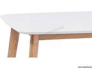Стол обеденный Intarsio Exen 120х80 см Белый, фото 2