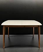 Стіл обідній Intarsio Exen II 120(160)х80 см Сірий