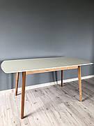 Стіл обідній Intarsio Exen II 120(160)х80 см Кремовий