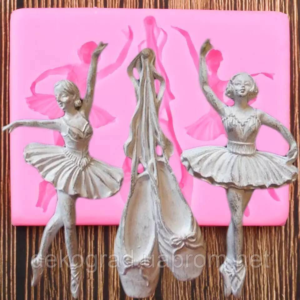 Молд Набор Балерины и пуанты 8.2х10.5см размер молда