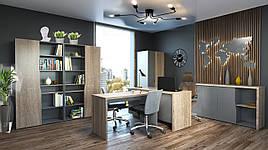 Комплект меблів в офіс Intarsio Connect Дуб сонома трюфель + Антрацит