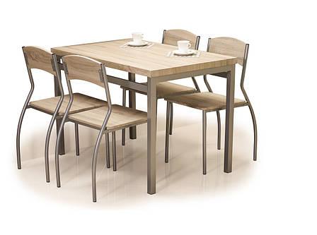 Комплект столовый Signal Мебель Astro 110х70 см Дуб сонома (ASTROD), фото 2
