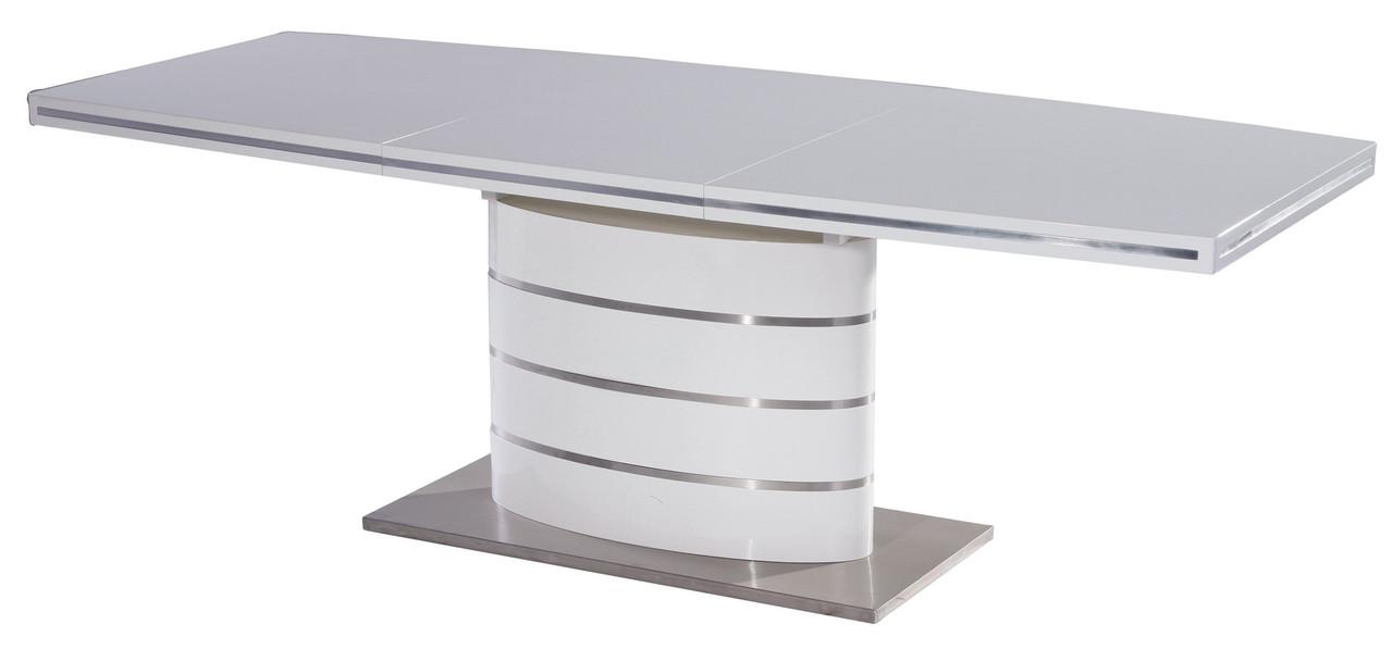 Стіл обідній Signal Fano 90x140(200) см Білий (FANOB140)