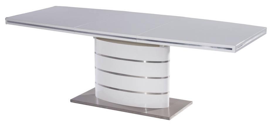 Стіл обідній Signal Fano 90x140(200) см Білий (FANOB140), фото 2