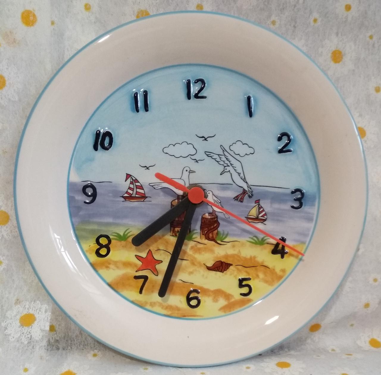 """Часы настенные  """"Море """"керамика  d/20"""