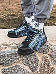 😜Кросівки - Чоловічі кросівки чорні з малюнком / чоловічі кросівки чорні з малюнком, фото 2