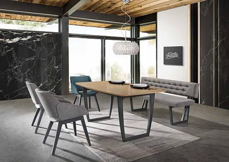 Стіл обідній Меблі Signal Quadro 160 х 90 см (QUADRODGR160), фото 2