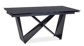 Стіл обідній Signal Cavalli 90x160(240) см Чорний матовий (CAVALLICC160), фото 2
