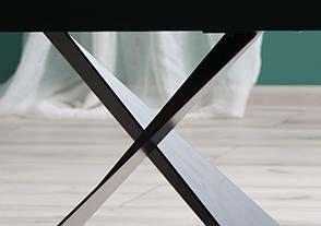 Стіл обідній Signal Cavalli 90x160(240) см Чорний матовий (CAVALLICC160), фото 3