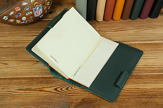 Обложка для ежедневника формата А5, Модель № 12, кожа Grand, цвет Зеленый, фото 3