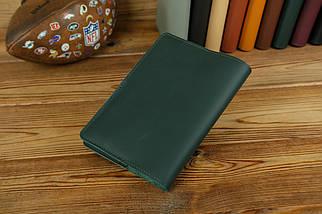 Обложка для ежедневника формата А5, Модель № 12, кожа Grand, цвет Зеленый, фото 2